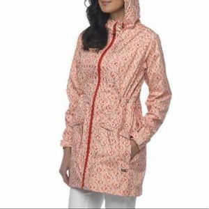 PrAna Portia waterproof Hooded Rain Trench Jacket